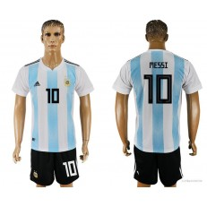 Argentina 10 MESSI Home 2018 FIFA World Cup Soccer Jersey