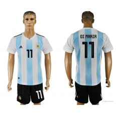 Argentina 11 DI MARIA Home 2018 FIFA World Cup Soccer Jersey