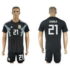 Argentina 21 DYBALA Away 2018 FIFA World Cup Soccer Jersey