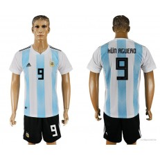 Argentina 9 ICARDI Home 2018 FIFA World Cup Soccer Jersey