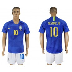 Brazil 10 NEYMAR JR Away 2018 FIFA World Cup Soccer Jersey