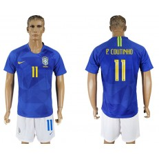 Brazil 11 COUTINHO Away 2018 FIFA World Cup Soccer Jersey