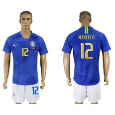 Brazil 12 MARCELO Away 2018 FIFA World Cup Soccer Jersey