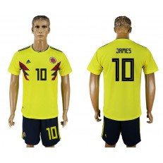 Colombia 10 JAMES Home 2018 FIFA World Cup Soccer Jersey