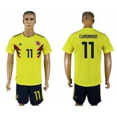 Colombia 11 CURDRADO Home 2018 FIFA World Cup Soccer Jersey