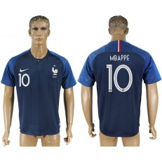 France 10 MBAPPE Home 2018 FIFA World Cup Soccer Thailand Soccer Jersey