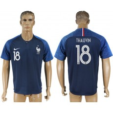 France 18 THAUVIN Home 2018 FIFA World Cup Soccer Thailand Soccer Jersey