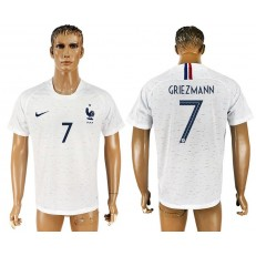 France 7 GRIEZMANN Away 2018 FIFA World Cup Soccer Thailand Soccer Jersey