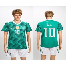 Germany 10 OZIL Away 2018 FIFA World Cup Soccer Jersey