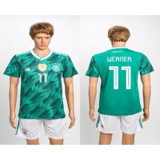 Germany 11 WERNER Away 2018 FIFA World Cup Soccer Jersey