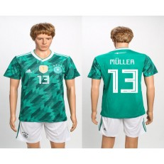 Germany 13 MULLER Away 2018 FIFA World Cup Soccer Jersey