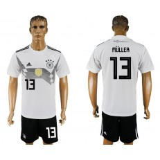 Germany 13 MULLER Home 2018 FIFA World Cup Soccer Jersey