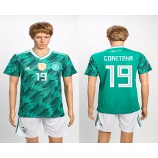 Germany 19 GORETZKA Away 2018 FIFA World Cup Soccer Jersey