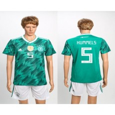 Germany 5 HUMMELS Away 2018 FIFA World Cup Soccer Jersey