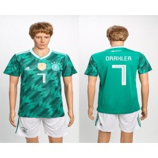 Germany 7 DRAXLER Away 2018 FIFA World Cup Soccer Jersey