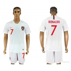 Portugal 7 RONALDO Away 2018 FIFA World Cup Soccer Jersey