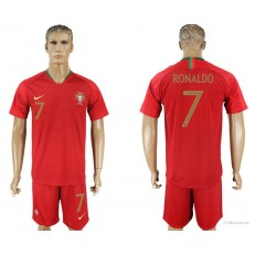 Portugal 7 RONALDO Home 2018 FIFA World Cup Soccer Jersey