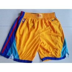 Golden State Warriors Gold City Edition Nike Swingman Shorts