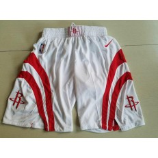Houston Rockets White Nike Swingman Shorts