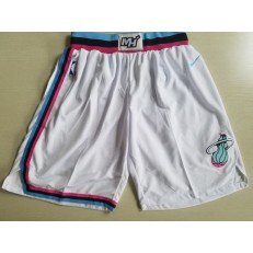 Miami Heat White City Edition Nike Swingman Shorts