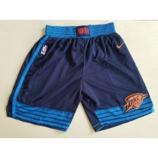 Oklahoma City Thunder Navy Nike Swingman Shorts