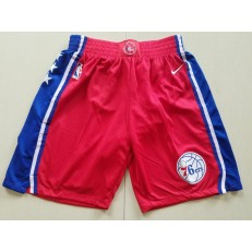 Philadelphia 76ers Red Nike Swingman Shorts