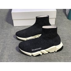 BALENCIAGA SPEED STRETCH-KNIT MID SNEAKERS BLACK
