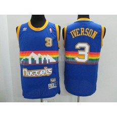 Denver Nuggets #3 Allen Iverson Hardwood Classics Swingman Men Jersey