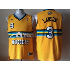 Denver Nuggets #3 Allen Iverson Revolution 30 Swingman Yellow Men Jersey
