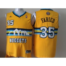 Denver Nuggets #35 Kenneth Faried Revolution 30 Swingman Yellow Men Jersey