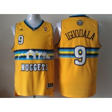 Denver Nuggets #9 Andre Iguodala Revolution 30 Swingman Yellow Men Jersey