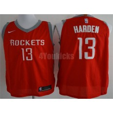 Houston Rockets #13 James Harden Red Nike Authentic Statement Edition Men Jersey