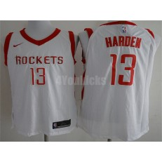 Houston Rockets #13 James Harden White Nike Authentic Association Edition Men Jersey