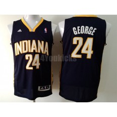 Indiana Pacers #24 Paul George Navy Blue New Revolution 30 Men Jersey