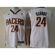 Indiana Pacers #24 Paul George White New Revolution 30 Men Jersey