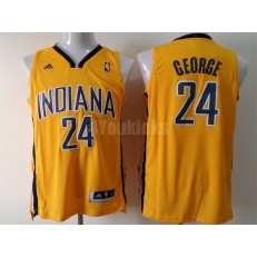 Indiana Pacers #24 Paul George Yellow New Revolution 30 Men Jersey