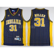 Indiana Pacers #31 Reggie Miller Navy Throwback Mitchell And Ness Men Jersey