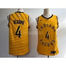Indiana Pacers #4 Victor Oladipo Yellow Nike Swingman Men Jersey