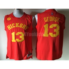 Indiana Pacers Hickory #13 Paul George Red Swingman Men Jersey