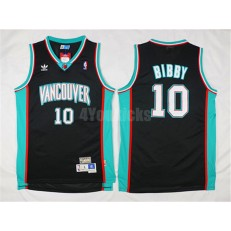 Memphis Grizzlies #10 Mike Bibby Black Hardwood Classics Men Jersey