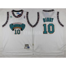 Memphis Grizzlies #10 Mike Bibby White Hardwood Classics Men Jersey