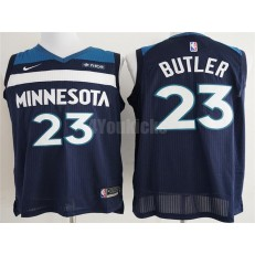 Minnesota Timberwolves #23 Jimmy Butler Navy Nike Authentic Men Jersey