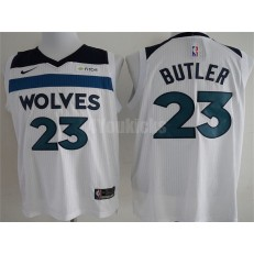 Minnesota Timberwolves #23 Jimmy Butler White Nike Authentic Men Jersey