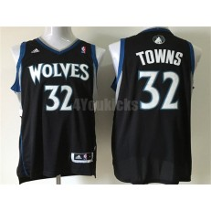 Minnesota Timberwolves #32 Karl-Anthony Towns Black New Revolution 30 Men Jersey