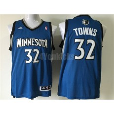 Minnesota Timberwolves #32 Karl-Anthony Towns Blue New Revolution 30 Men Jersey