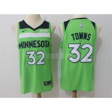 Minnesota Timberwolves #32 Karl-Anthony Towns Green Nike Swingman Men Jersey