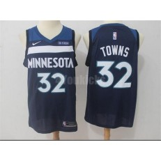 Minnesota Timberwolves #32 Karl-Anthony Towns Navy Blue Nike Swingman Men Jersey