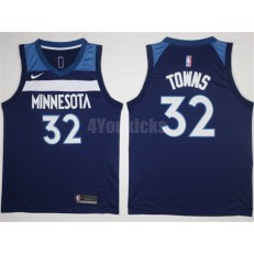 Minnesota Timberwolves #32 Karl-Anthony Towns New Navy Blue 2017-2018 Nike Swingman Stitched Men Jersey