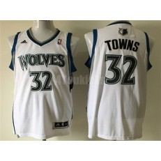 Minnesota Timberwolves #32 Karl-Anthony Towns White New Revolution 30 Men Jersey