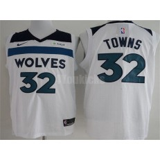 Minnesota Timberwolves #32 Karl-Anthony Towns White Nike Authentic Men Jersey